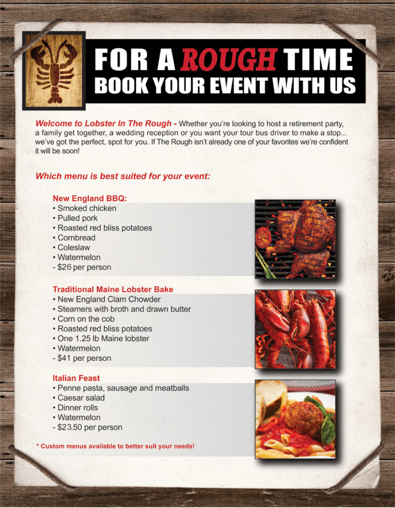 Book a Rough Event With Us